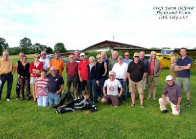 Group photo Defford 12 July 2017