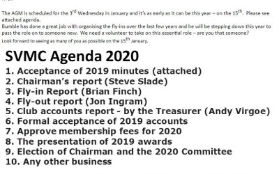 SVMC AGM Wednesday 15th January