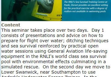 GASCO Ditching and Sea Survival Seminar